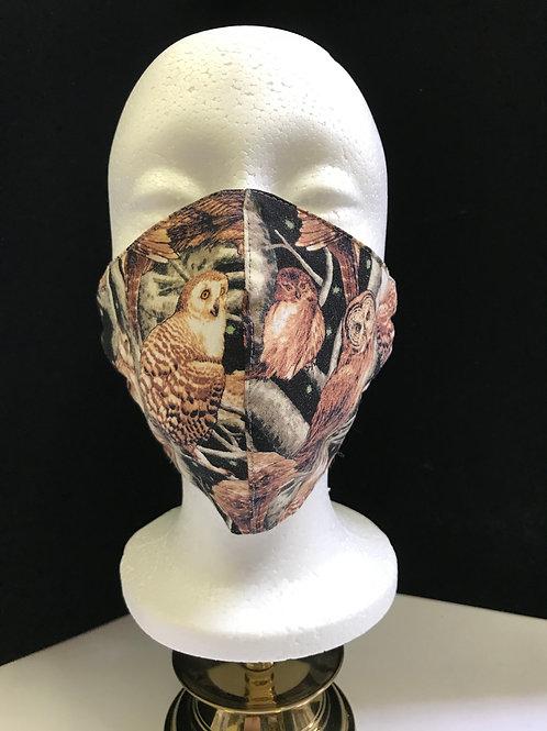Handmade Fabric Face Mask - Owls