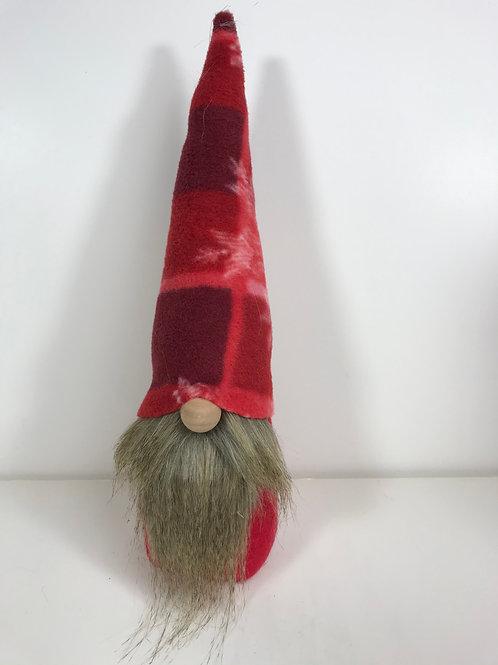 Gnome - Red Plaid Brown Beard
