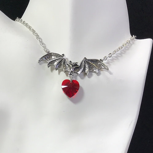 Alchemy of England Vampire Loveheart Necklace