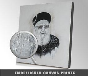 Embellished canvas prints - lina hazan - לינה חזן
