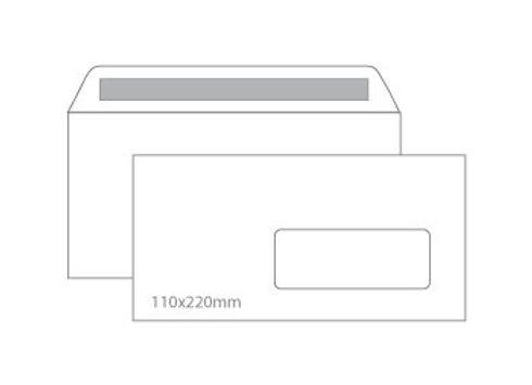 Envelopes 110X220mm c/ janela Cx 500un Autodex Pap