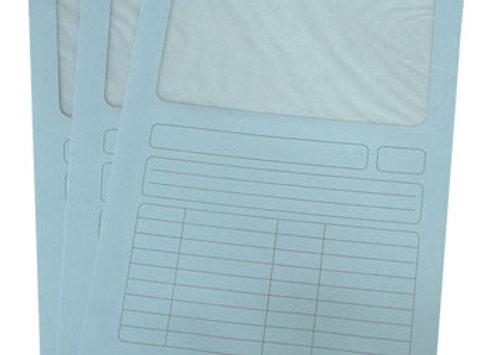 Cartolina de 140gr com janela papel translúcido