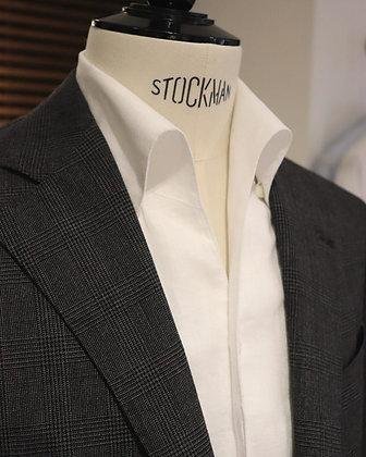 Linen One-piece Collar Shirt - White