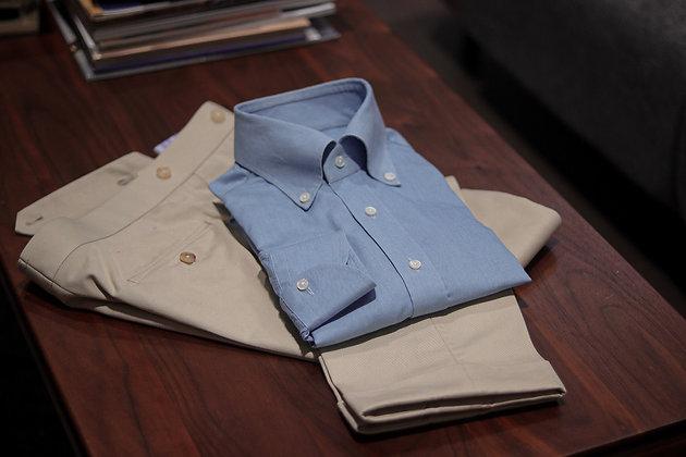 Button-down Collar Shirt - Denim