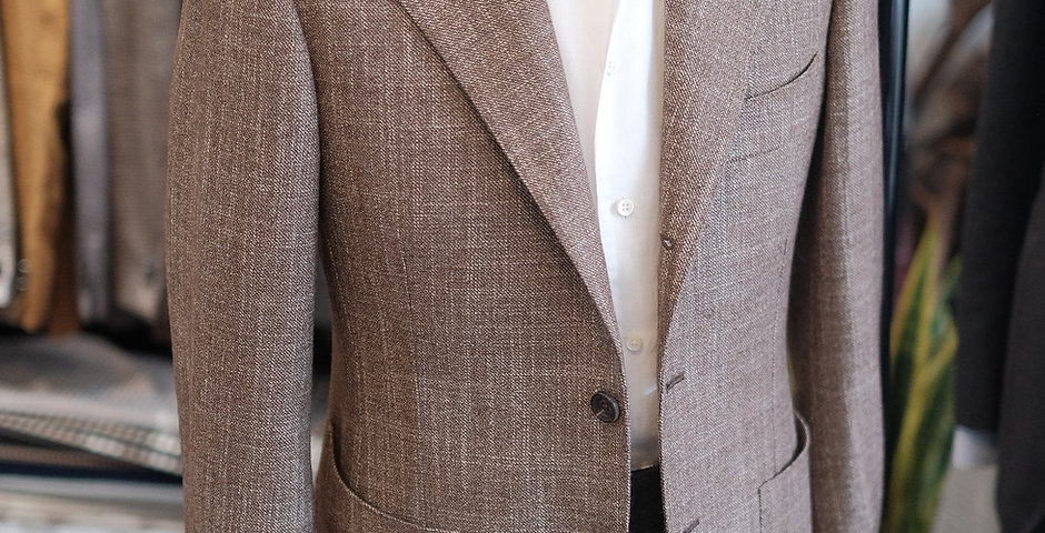 Wool/ Silk/ Cashmere Sport Coat - Brown