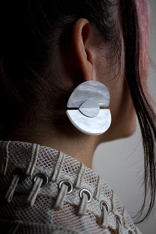 Pearled Acrylic Earring by Devyn Vasquez