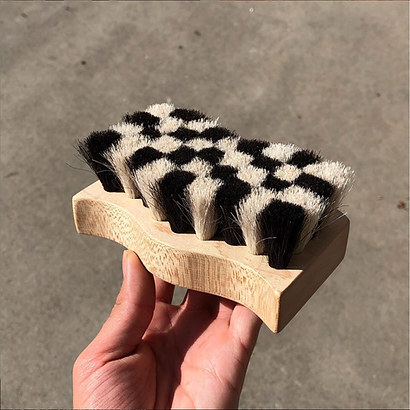 Checkered Saddle Brush by Devyn Vasquez