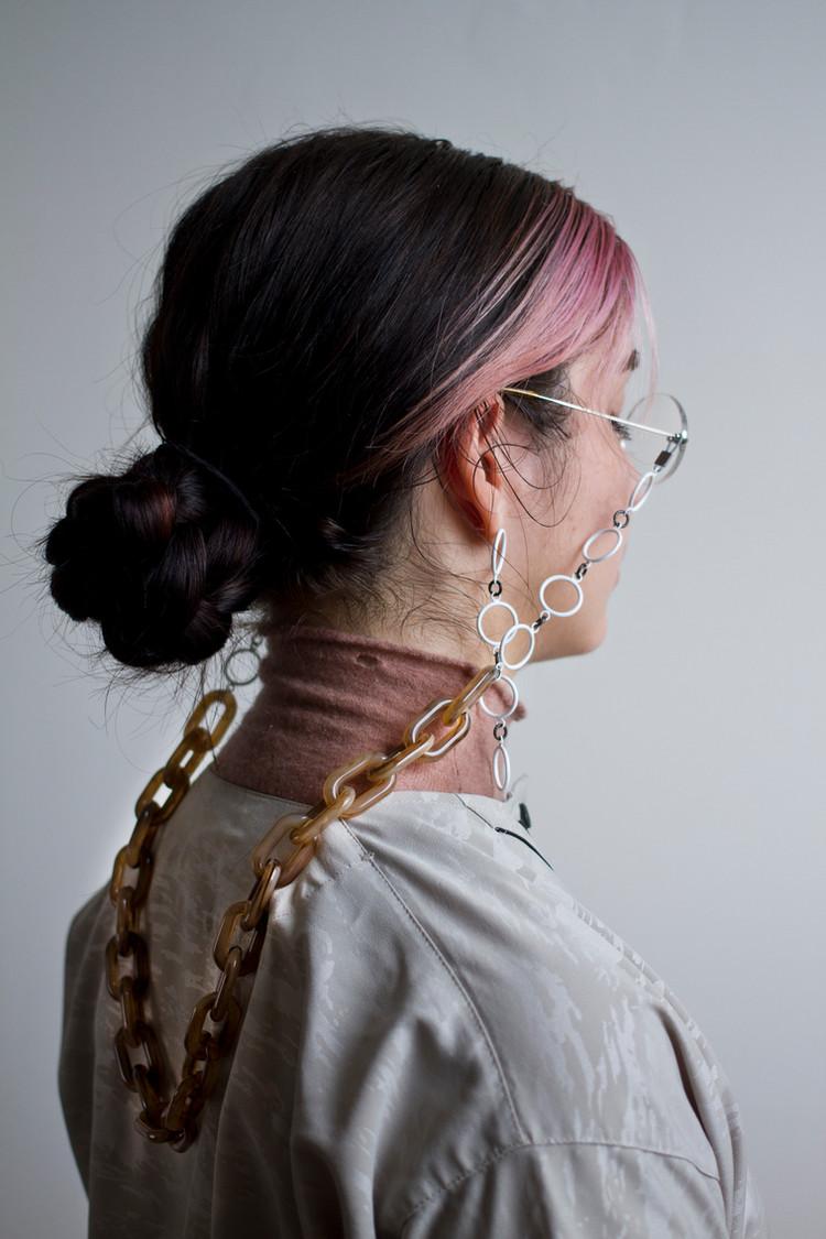 drop earring and croakie set detail