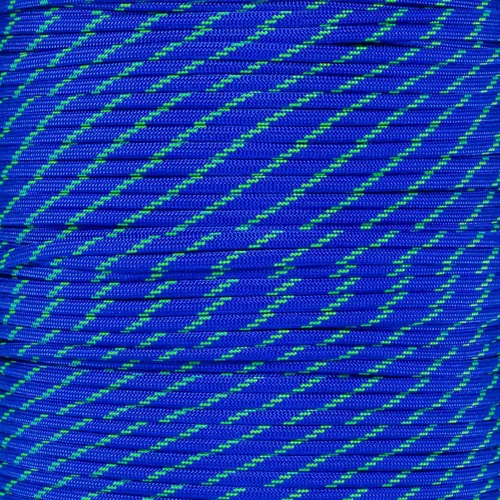 Electric Blue with Green Tracer
