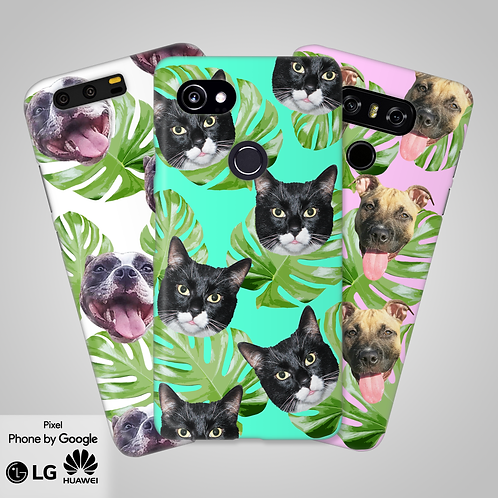 Tropical Leaves Custom Head Only Phone Case | Google, LG, Huawei