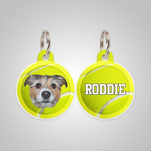 Custom Tennis Ball Dog ID Tag