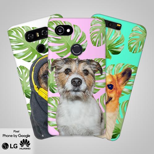 Tropical Leaves Custom Head and Shoulder Phone Case | Google, LG, Huawei