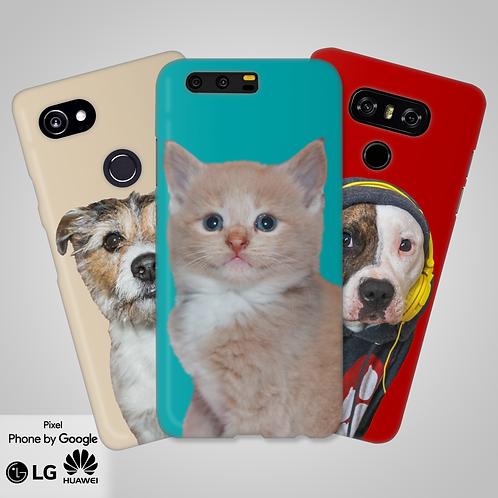 Create-Your-Own Custom Head & Shoulder Snap-On Phone Case | Google, LG, Huawei