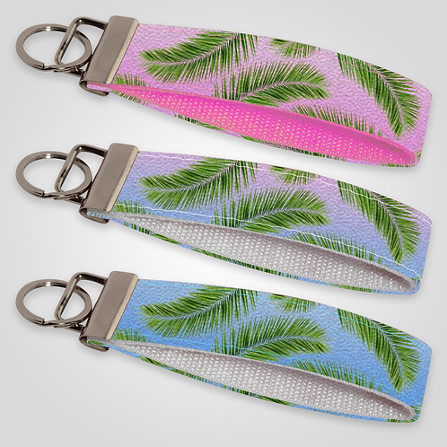 Palm Tree Leaves Custom Keyfob