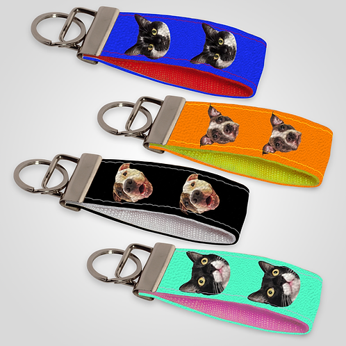 Create-Your-Own Custom Head Only Mini Keyfob | Solid Colours