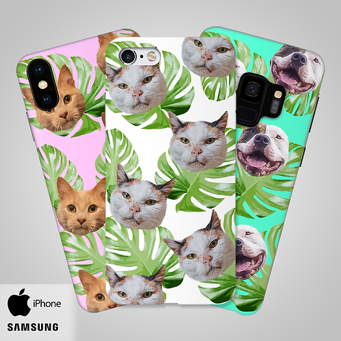 Tropical Leaves Custom Head Only Phone Case | iPhone, Samsung