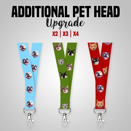 Custom Pet Head Lanyard Upgrade x2 | x3 | x4 *ADD-ON*
