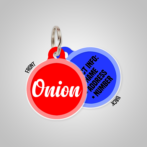 Create-Your-Own Custom Name Solid Colours Pet ID Tag