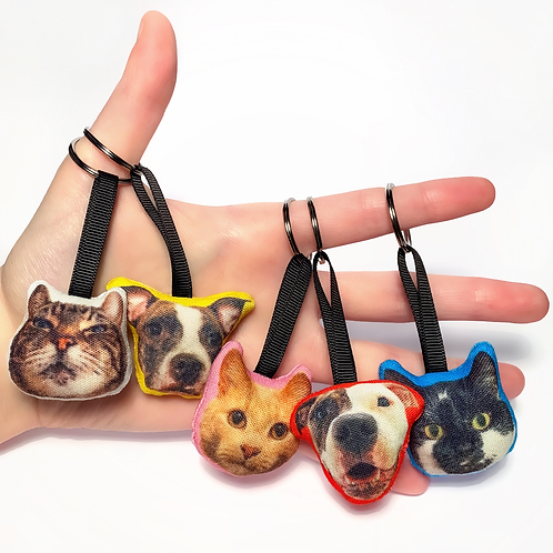 Custom Pet Head Keyring
