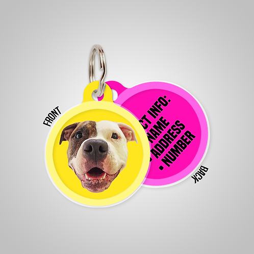 Create-Your-Own Custom Head Only Solid Colours Pet ID Tag