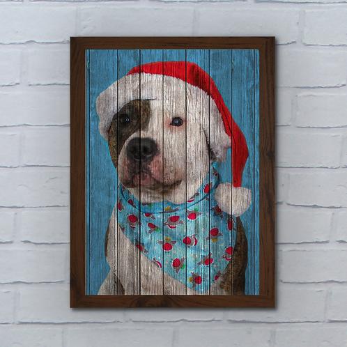 Custom Pet Pop Art Wood Panel Effect Poster