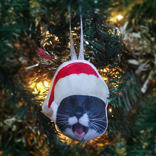 Custom Pet Head Christmas Ornament