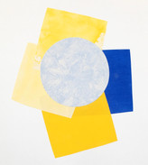 Yellow Blue Rose Series of 17 Image size 28 x 28 approx