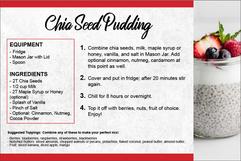 Chia Seed Pudding Recipe Card