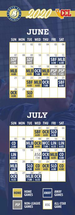 Arroyo Seco Saints Calendar