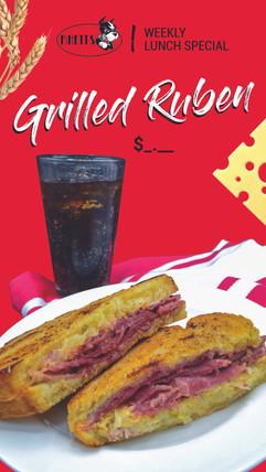 Grilled Ruben Menu Board