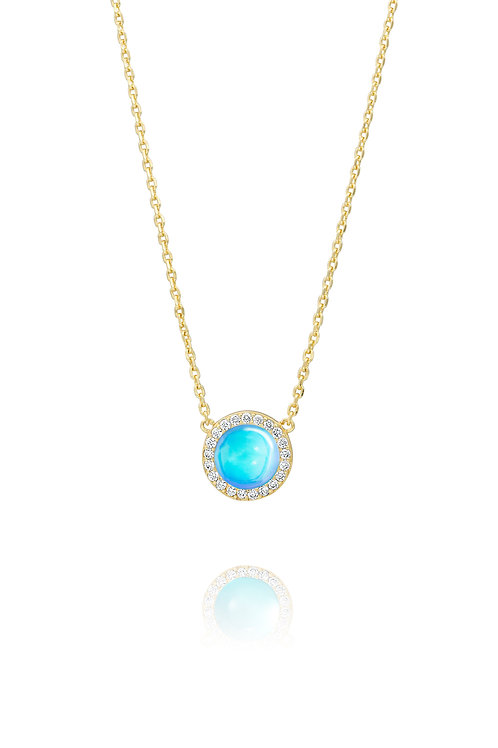Circle Necklace | Yellow Gold Plated