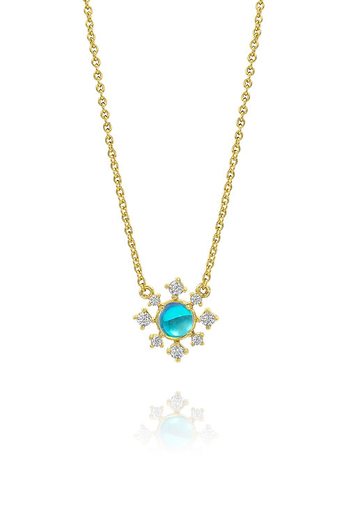 Snowflake Necklace | Yellow Gold Plated