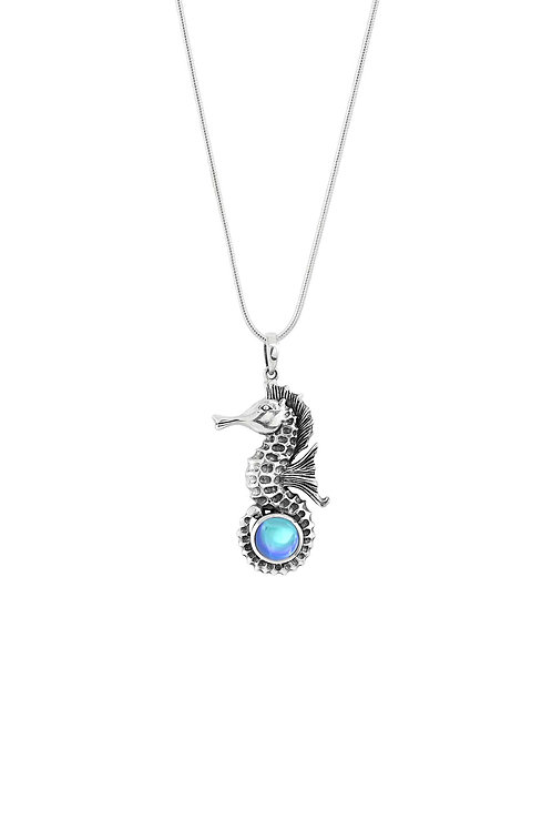 Sea Dragon | White Gold Plated Necklace | Sea Life Collection