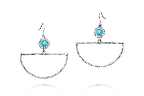 Arc Earrings | White Gold Plated