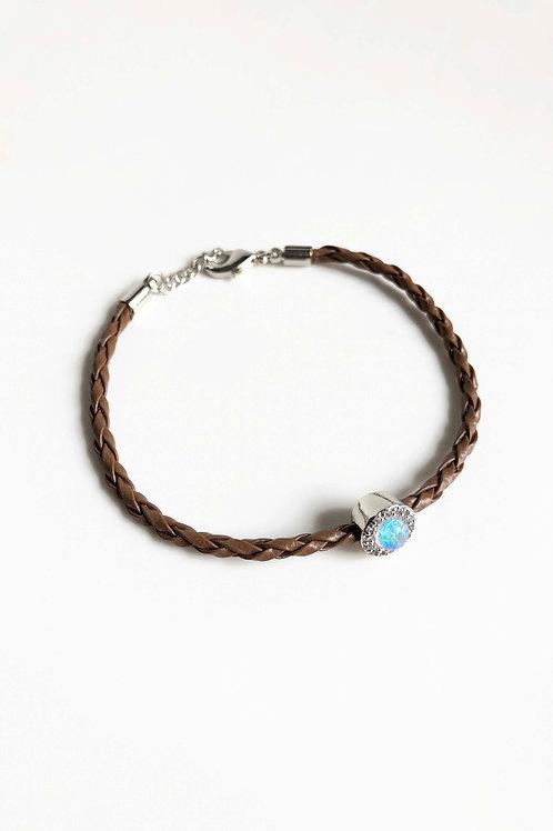 Braided Bracelet | White Gold Plated