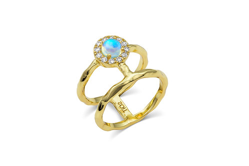 H Ring | Yellow Gold Plated