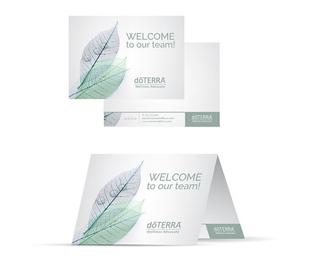 Leaf Lines WELCOME Cards