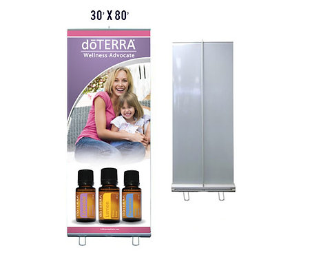 doTERRA Banner With Aluminum Stand 30x80 (style 1)