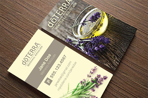 Lavender Bowl Custom Business Cards (500 quantity)
