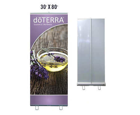 doTERRA Banner With Aluminum Stand 30x80 (style 2)
