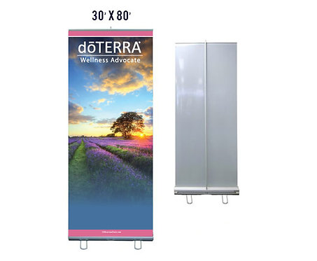 doTERRA Banner With Aluminum Stand 30x80 (style 3)