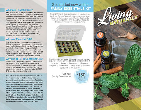 Living Naturally Trifold - digital download .pdf