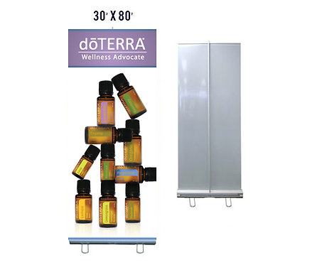 doTERRA Banner With Aluminum Stand 30x80 (style 7)