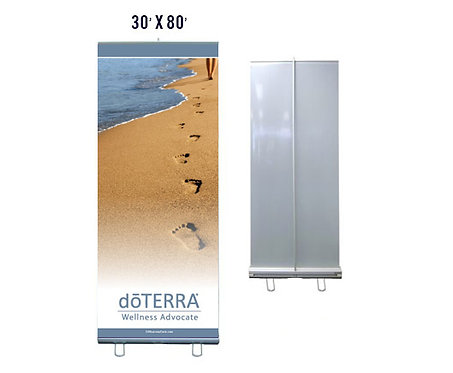 doTERRA Banner With Aluminum Stand 30x80 (style 6)