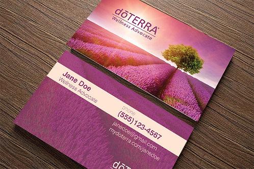 Tree Lavender Field Custom Business Cards (500 quantity)