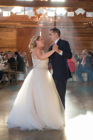 Bride and Groom's First Dance at The Reserve at Dancing Elk, Mathis Tx