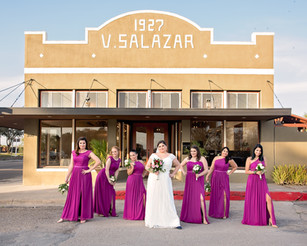 Wedding Day Bridesmaids Group Photo, The Salazar Building, Kingsville, TX