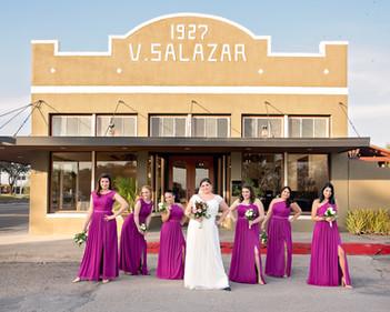 Wedding Day Bridesmaids Group Photo, The Salazar Building, Kingsville, TX