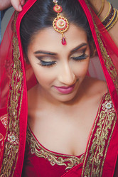 Beautiful Indian Bride on her Wedding Day, Port Aransas, Texas