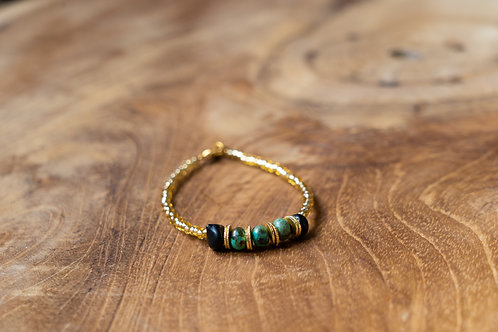 Bracelet turquoise et onyx